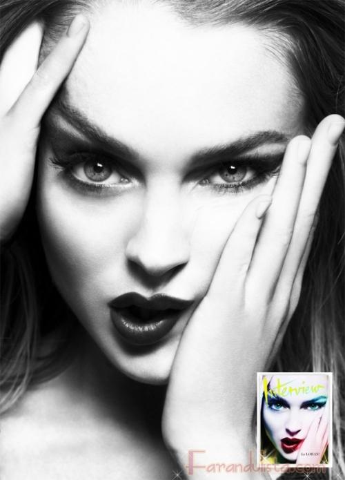 Lindsay Lohan para Interview Magazine [Febrero]