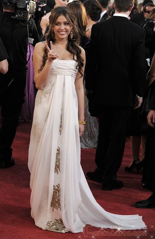 Miley Cyrus en Los Golden Globe 2009