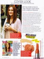 Gossip Girl Leighton Meester en Teen Vogue magazine