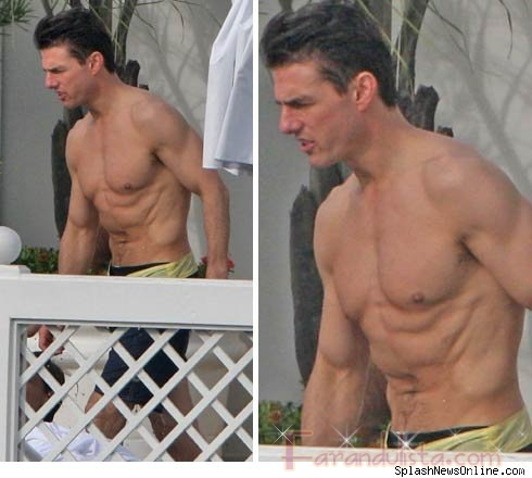 Tom Cruise sin camisa en Brasil... HOT