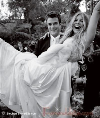 Fotos de Fergie y Josh Duhamel en su boda (Elle magazine)