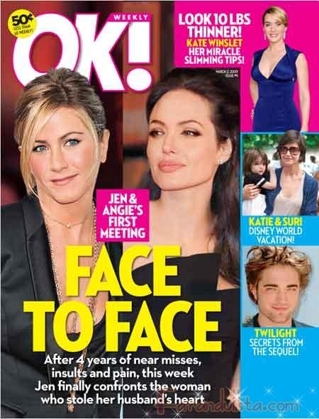 Angelina y Jennifer Aniston finalmente cara a cara