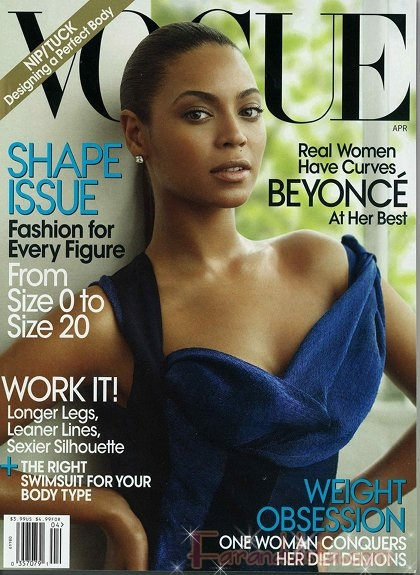 Beyonce en Vogue magazine Abril 2009 + House of Dereon Ads