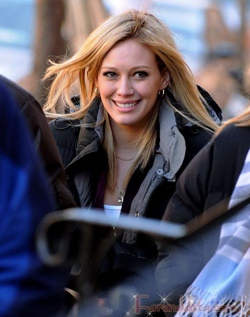 Hilary Duff filma un capitulo de Law & Order SVU