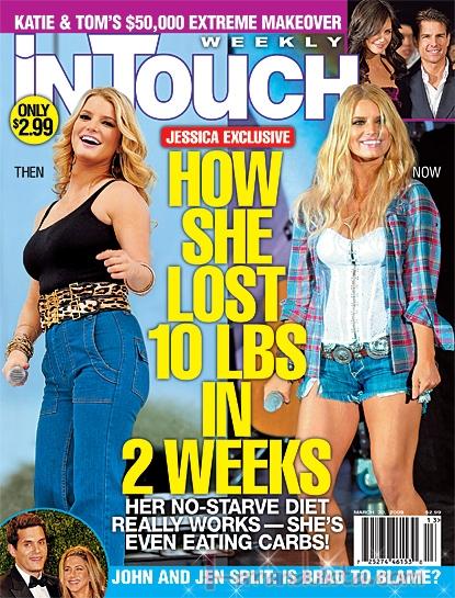 Jessica Simpson perdio casi 5 kilos en dos semanas - InTouch