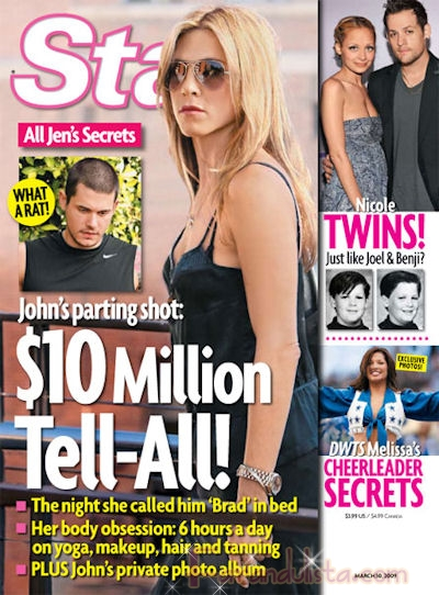 John Mayer revelara todo sobre Jen Aniston - Links!