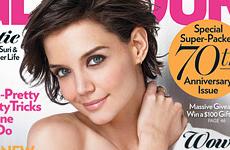 Katie Holmes habla de su familia en Glamour magazine