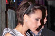 Victoria Beckham y David cenando en Milan