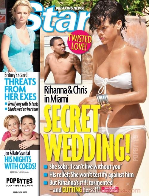 Rihanna y Chris Brown se casaron en secreto