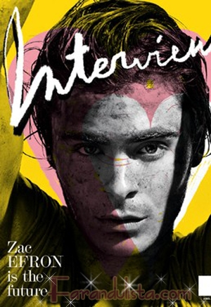 Zac Efron en la portada de Interview magazine...