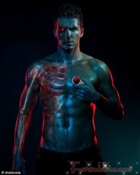 Beckham posa como Terminator - Links and Gossip bites!