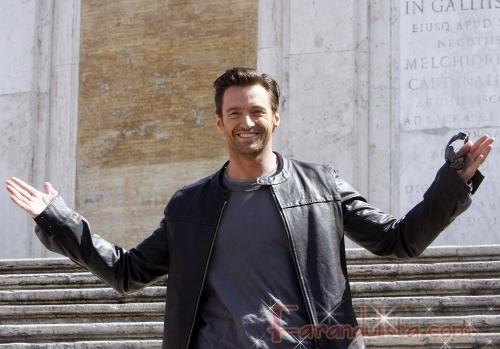 Hugh Jackman Promocionando X-Men Origins en Italia