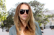 Lindsay Lohan niega que este en una dieta liquida