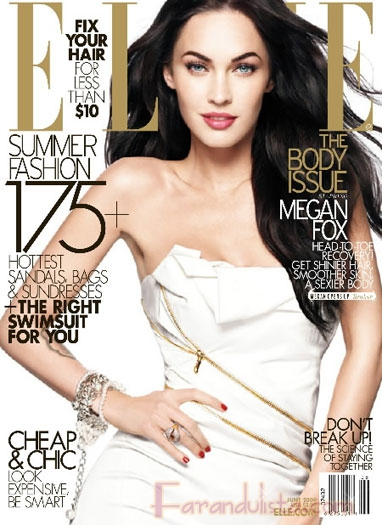Megan Fox en Elle magazine Junio 2009
