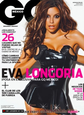 Eva Longoria irreconocible para GQ Mexico [Junio 2009]