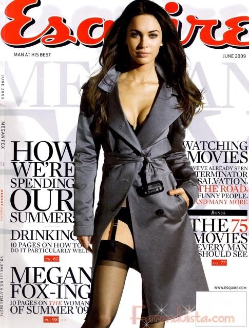 Megan Fox siendo Foxy en Esquire magazine