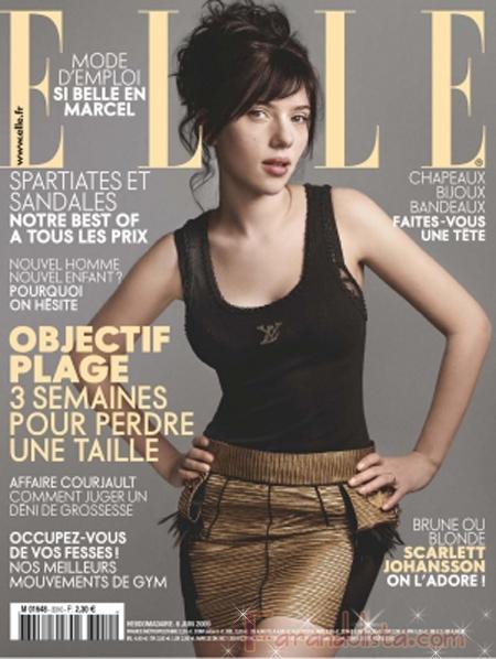 Scarlett Johansson para Elle magazine Francia