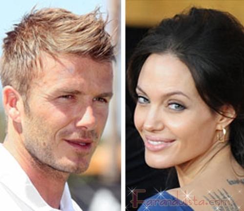 Beckham niega promos sexy con Angelina Jolie para Armani