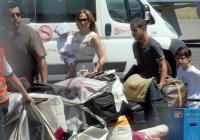 Jennifer Lopez y su familia en Roma