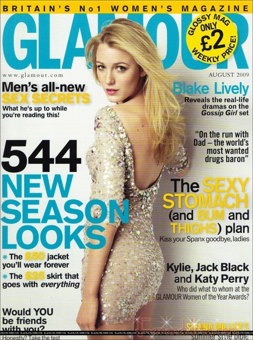 Blake Lively en Glamour magazine UK
