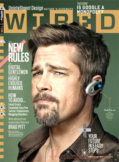 Brad Pitt habla de etiqueta online y Twitter en Wired magazine