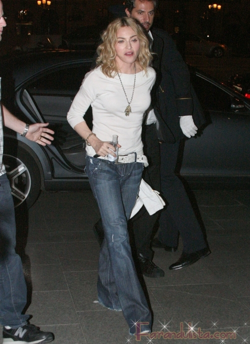 Madonna al natural en Paris