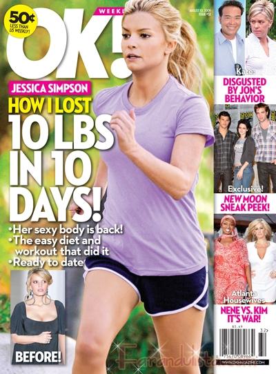 Como Jessica Simpson perdio unos 5 kgs en 10 dias - OK!