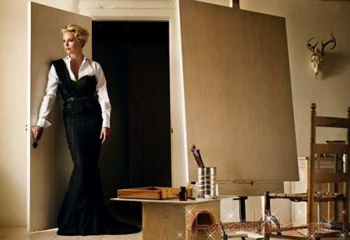 Charlize Theron revela demasiado - Vogue magazine [Sept 2009]