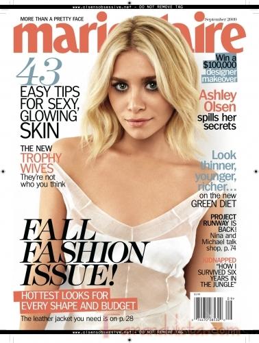 Ashley Olsen cuenta sus secretos en Marie Claire [Sept. 2009]