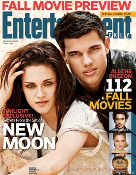 Kristen Stewart y Taylor Lautner en Entertainment Weekly