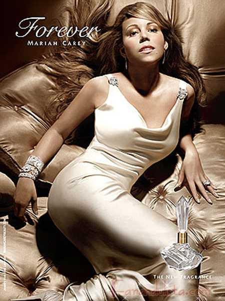 Mariah Carey en la promo de su nueva fragancia FOREVER