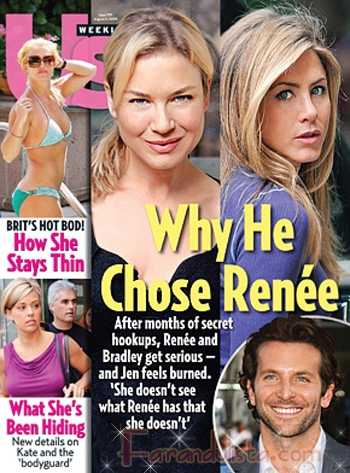 Jennifer Aniston devastada porque Bradley se fue con Renee... SURE!