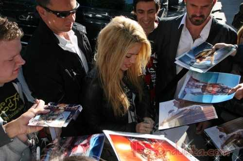 Shakira de promocion en Londres