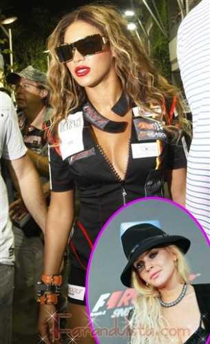 Beyonce echa a Lindsay de los vestidores en el evento de Singapur