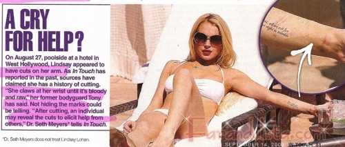 Lindsay Lohan se corta y se roba ella misma??