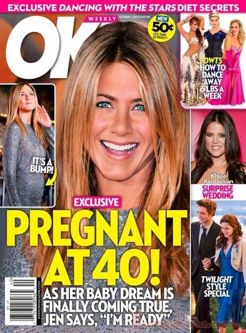 Jennifer Aniston llorando por Brad y embarazada a los 40?