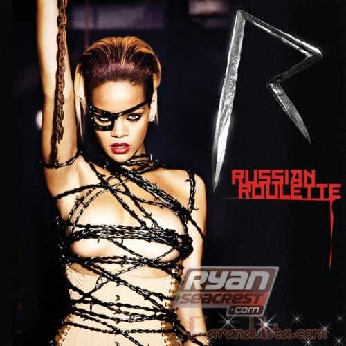 Rihanna posa para el cover de su single Russian Roulette