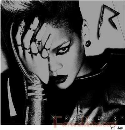 Rihanna en la portada de su album Rated R