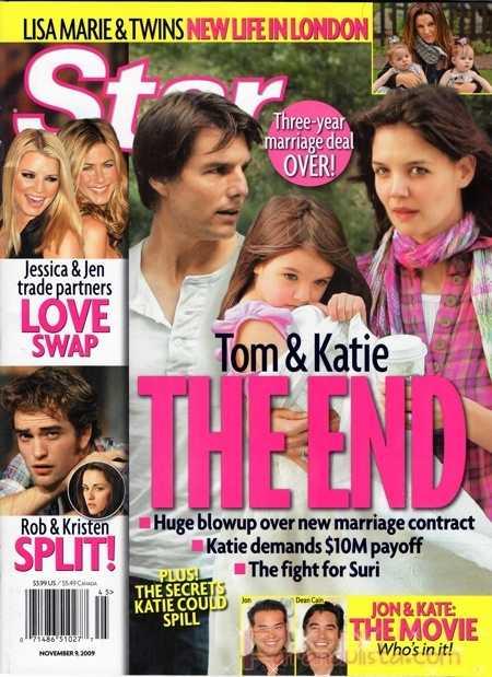 Es el fin para Tom Cruise y Katie Holmes - Star magazine