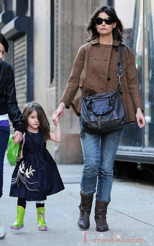 Katie Holmes y Suri Cruise en una tarde de New York