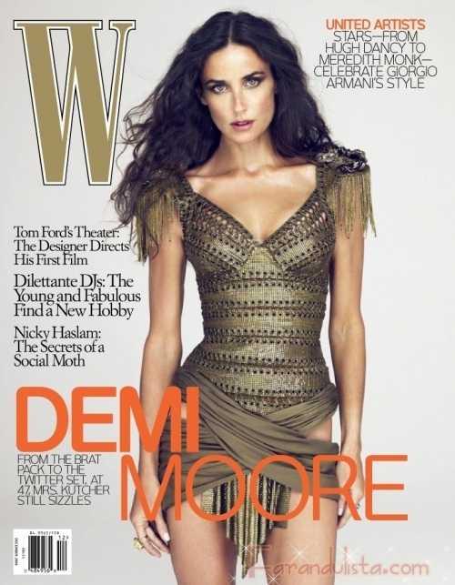 Demi Moore mas joven que nunca para W magazine