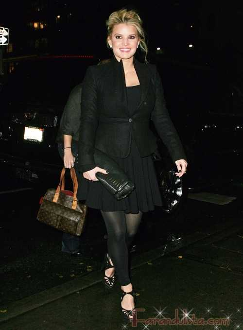 Jessica Simpson sonriente en New York City