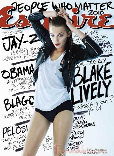 Blake Lively en Esquire Magazine