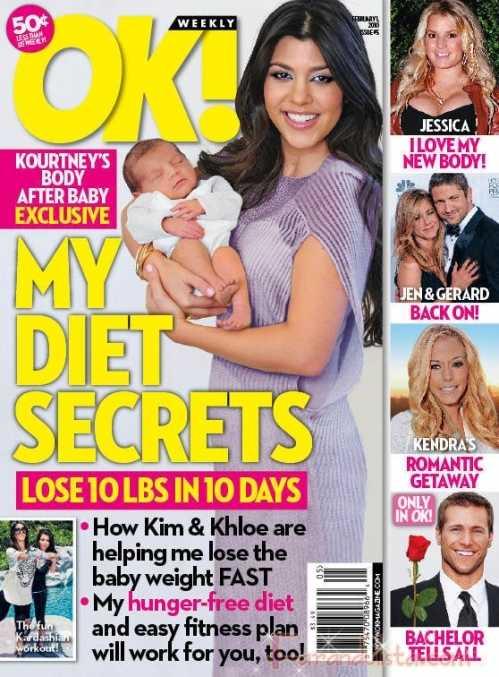 Kourtney Kardashian: OK! editó mi cuerpo post embarazo