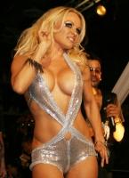 Pamela Anderson sofisticada en el Richie Rich A*Muse fashion show