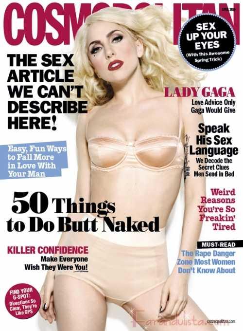 Lady Gaga en Cosmopolitan - Abril 2010