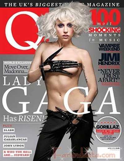 Lady Gaga en Q magazine (marzo 2010) Hace un berrinche en la sesion