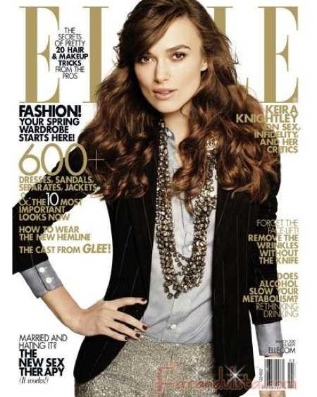 Keira Knightley en Elle Magazine Marzo 2010