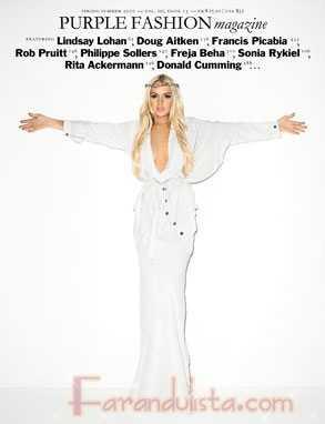 Lindsay Lohan en Purple magazine: posa como 'Jesus'