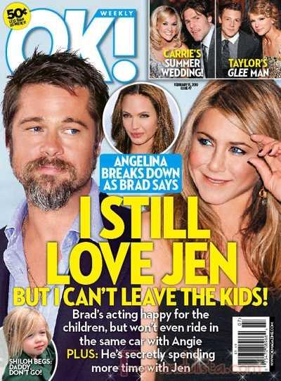 Brad todavia ama a Jen Aniston... OK! Gossip Gossip!
